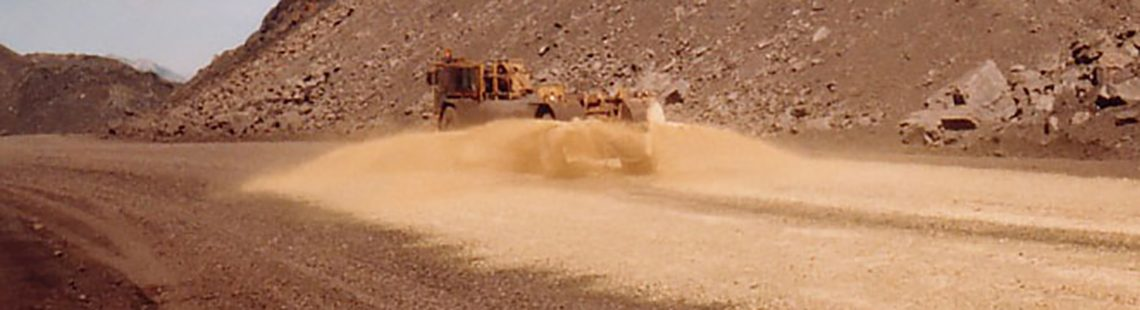 DUST BOND application on a dirt road